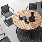 Carver circle table with chairs