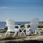 Coastline Adirondack chair back view