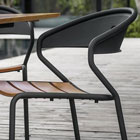 Curve chair in black
