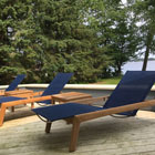 Solana lounge chairs in navy