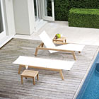 Solana lounge chairs in white